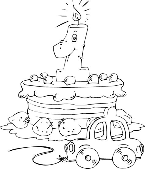 thunder cake coloring page age 1 colouring pages