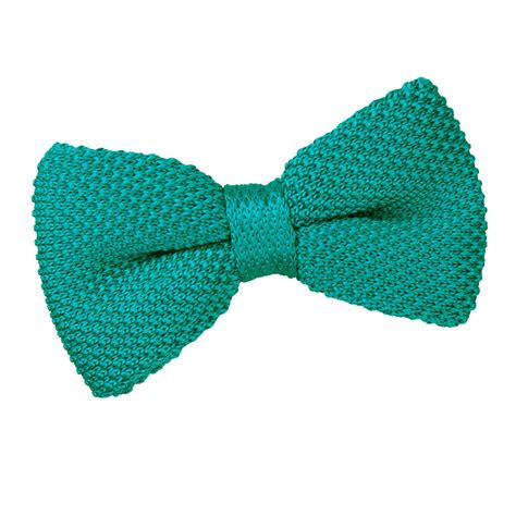 s knitted teal bow tie