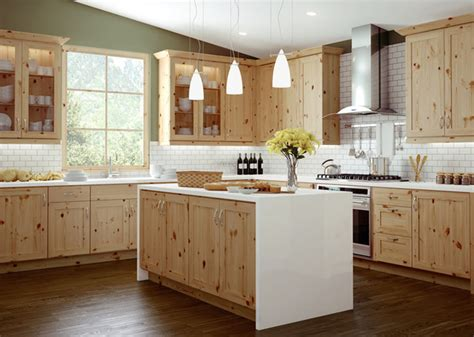 pine cabinets kitchen canyon creek millennia trio rustic pine natural modern