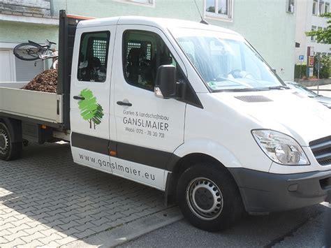 Auto Logo Bekleben by Autobeklebung Garten Und Landschaftsbau Ganslmaier