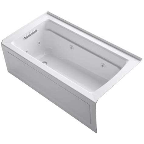 5 ft jacuzzi bathtub kohler archer 5 ft whirlpool tub in white k 1122 la 0