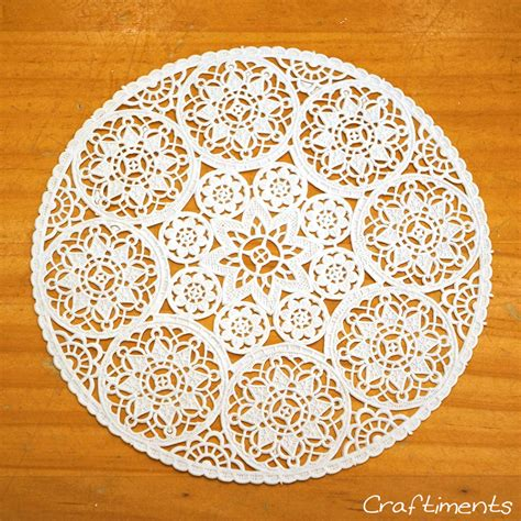How To Make Paper Doilies - craftiments paper doily decoupaged bottle tutorial
