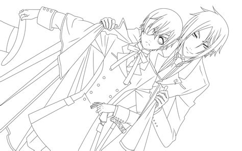 ciel phantomhive coloring pages coloring pages