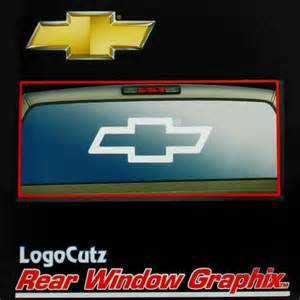 chevy bowtie decals rear window autos post