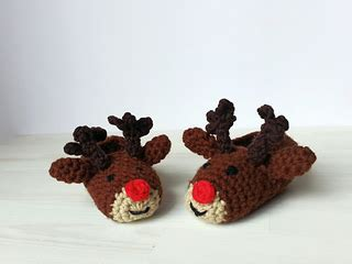 Kapi Slipper ravelry children s slippers quot rudolph reindeer quot pattern by karin pichler designs