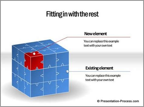 Easy Powerpoint Jigsaw Puzzle Cube Tutorial Powerpoint Cube Template