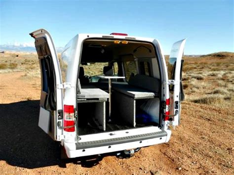 Diy Bed Frame by Ford Transit Connect Camper The Sporty Mini Camper