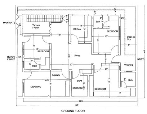 house layout map 10 marla house plans civil engineers pk