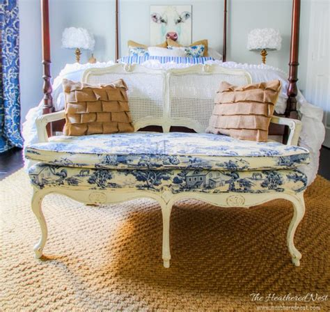 diy settee toile for two settee makeover diy furniture makeovers