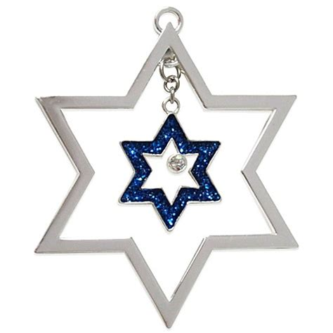 harvey lewis star of david hanukkah ornament made with