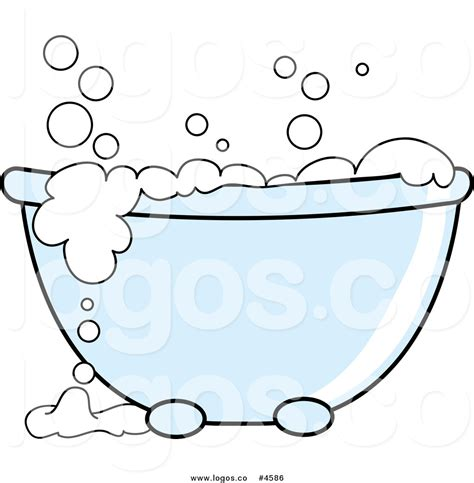 Affordable Bathroom Designs by Royalty Free Tub With White Bubbles Logo By Pams Clipart