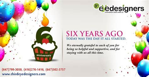 6 years in years happy 6th anniversary ツ web designing and development company in toronto