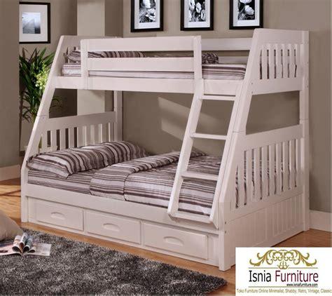 Furniture Ranjang ranjang tingkat anak laci bahan kayu jati dengan bahan