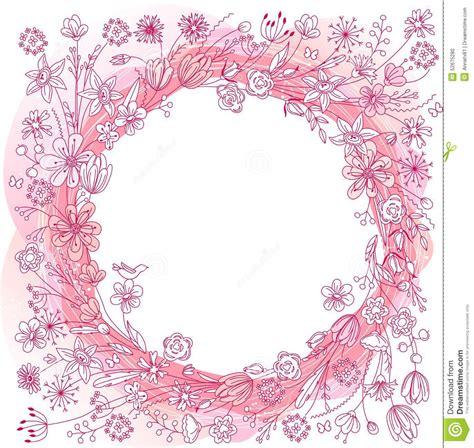 fiori stilizzati giapponesi corona rosa con i fiori stilizzati illustrazione