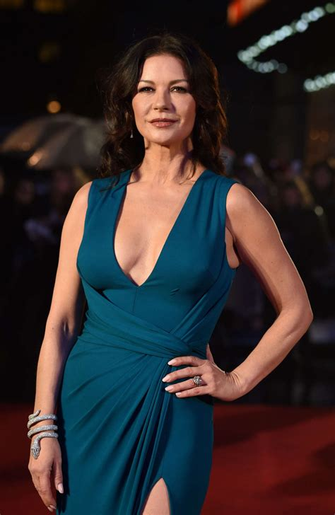 catherine zeta jones catherine zeta jones dad s army film premiere in london