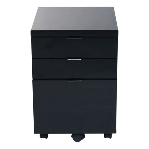 gilbert file cabinet in black lacquer chrome office
