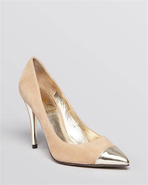 gold high heel pumps joan david pumps amoree high heel in beige light taupe