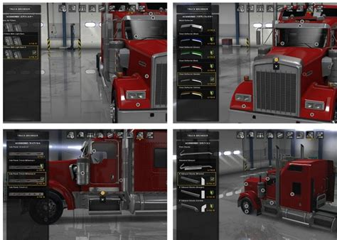 kenworth accessories kenworth w900 accessories v1 2 ats euro truck simulator 2
