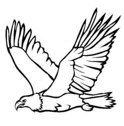 Flying Eagle Outline by Eagle Coloring Pages Getcoloringpages