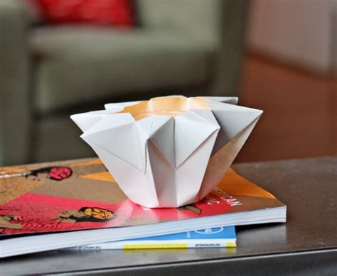 Origami Candle - make an origami lantern how about orange