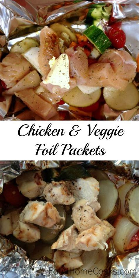 foil packets chicken and vegetables and the clean on