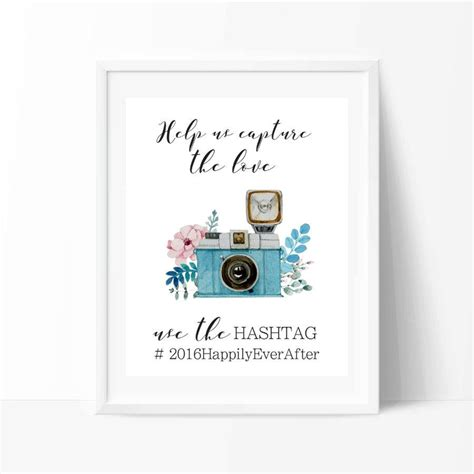 Wedding Hashtag by Wedding Hashtag Sign Printable Instagram Wedding Sign