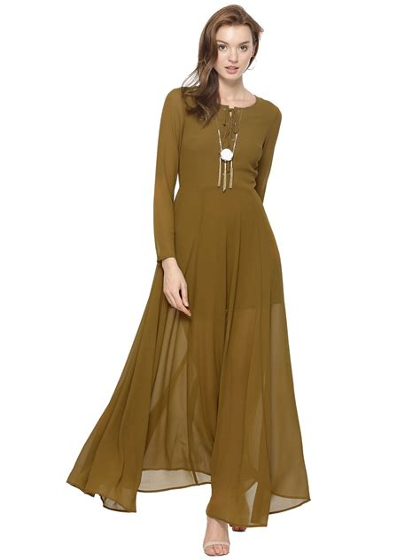 Sleeve Tie Front Dress buy glamorous tie front sheer sleeve maxi dress for
