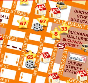 printable map glasgow city centre shopping map of glasgow city centre