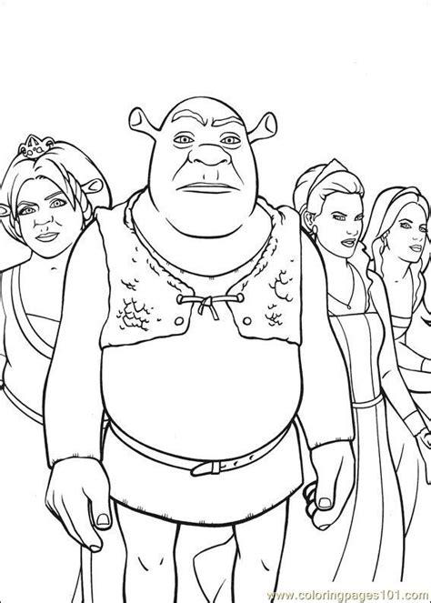 shrek coloring pages online coloring pages shrek 3 23 cartoons gt shrek the third