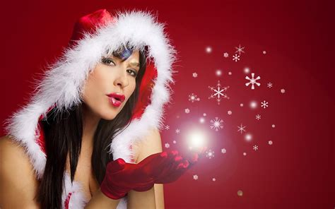 imagenes santa claus mujeres las mujeres rojas de la navidad de santa claus traje de