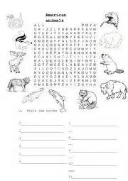 trapped on an island worksheet english worksheets american animals