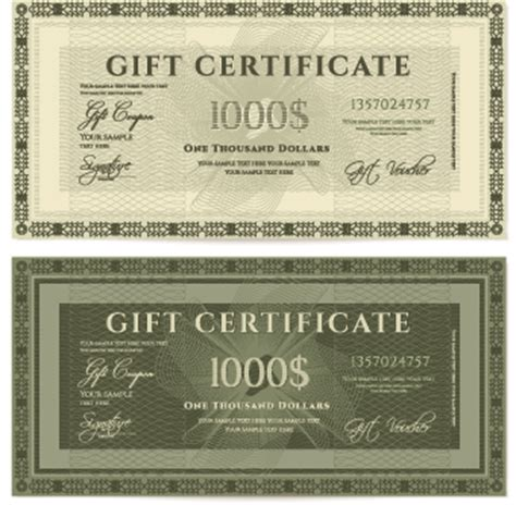 coupon certificate template certificate coupon design template vector 04 vector