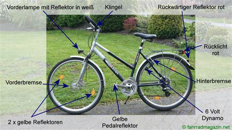 Beschriftung Verkehrssicheres Fahrrad by Verkehrssicheres Fahrrad Das Sollte Ihr Fahrrad Erf 252 Llen