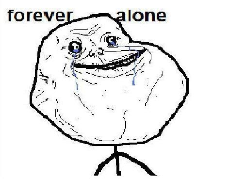 Forever Alone Meme Face - weak thrust better know a meme forever alone