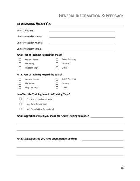 Event Evaluation Letter Communcation Manual