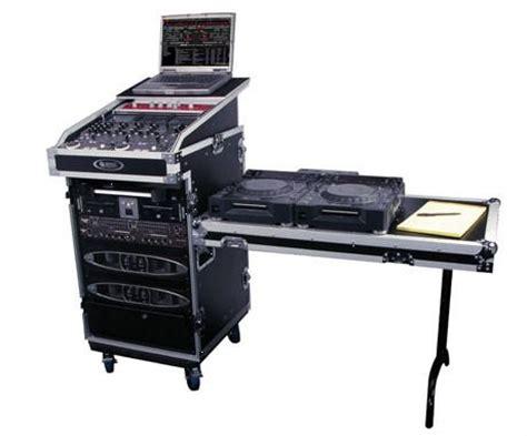 16u flight case + slant mixer + laptop stand + dj table