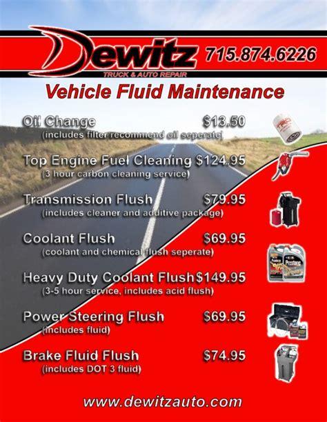 List Of Automotive Services by Eau Wisconsin Automotive Service Dewitz Truck Auto Repair