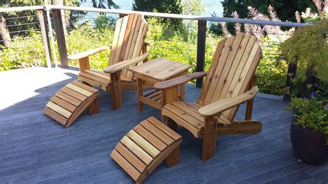adirondack table and chairs seattle adirondack chairs and cedar outdoor furniture
