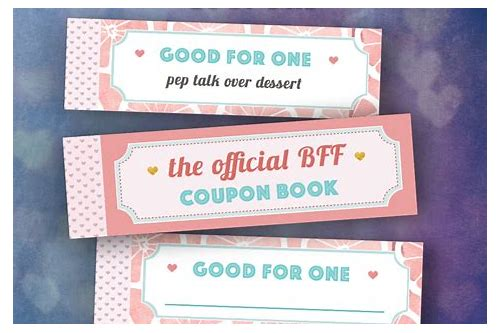 friend coupons book