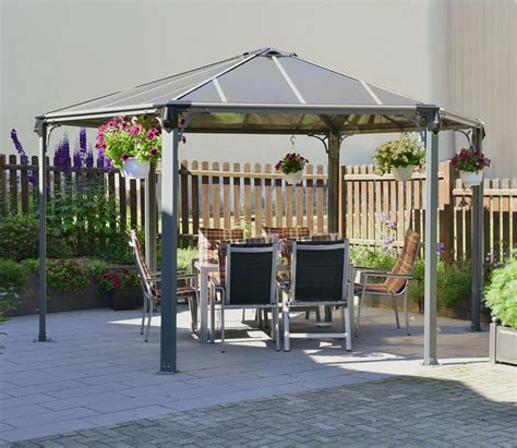 gazebo pavillon palram monaco hexagonal gazebo gardensite co uk