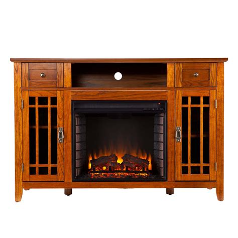 52 quot salinas electric media fireplace mission oak