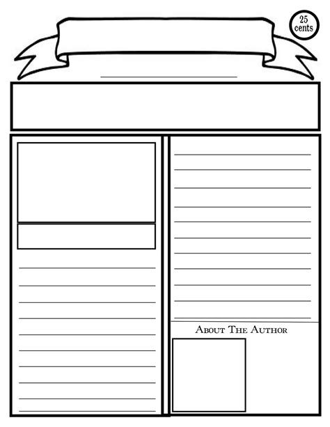 Free Printable Newspaper Template For Students blank newspaper template for printable p2c info