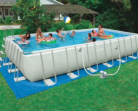 12 x 52 pool intex 24 x 12 x 52 ultra frame rectangular pool set 1 500