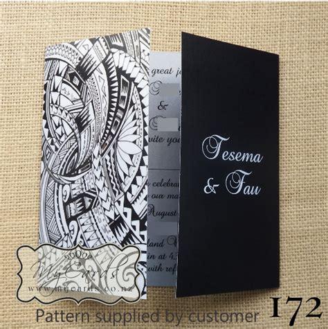 wedding invitation design nz pacific pattern gatefold wedding invitation design 172