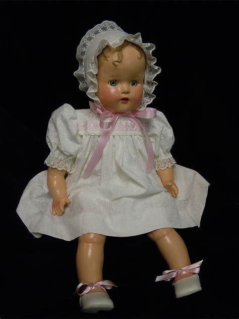 composition baby doll vintage composition ideal baby doll 1940 s restored