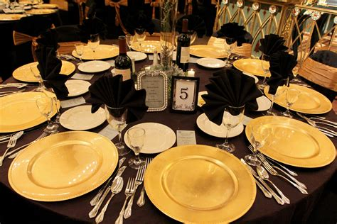 black and gold table setting black gold table setting events of elegance