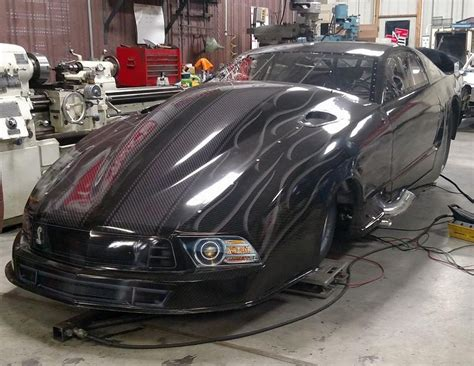 steve drummond set  debut  built pro modified ford mustang