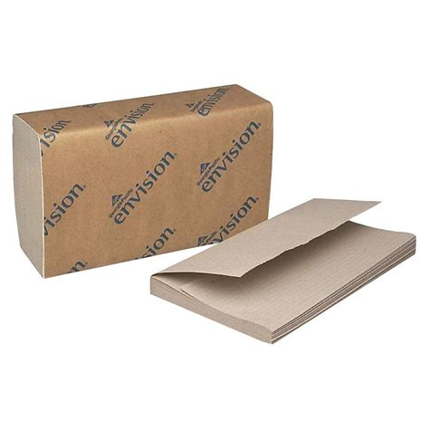 Folded Paper Towels - pacific envision brown single fold paper towels