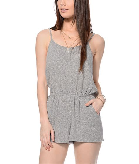 Gray Romper empyre grey knit romper