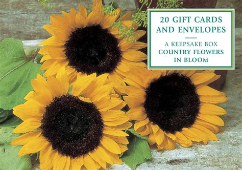 Booksamillion Gift Card - country flowers in bloom gift cards with 20 envelopes by peony press booksamillion